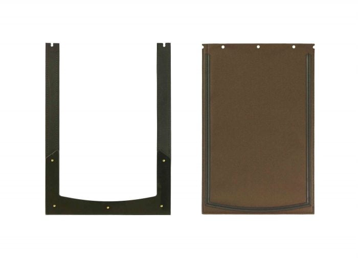 Large chocolate replacement flap and flap seal for Freedom Pet Pass pet door