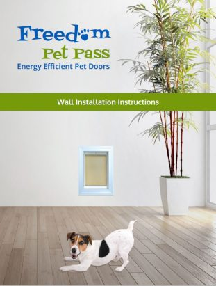 Freedom Pet Pass wall-mounted pet door installation instructions - front cover