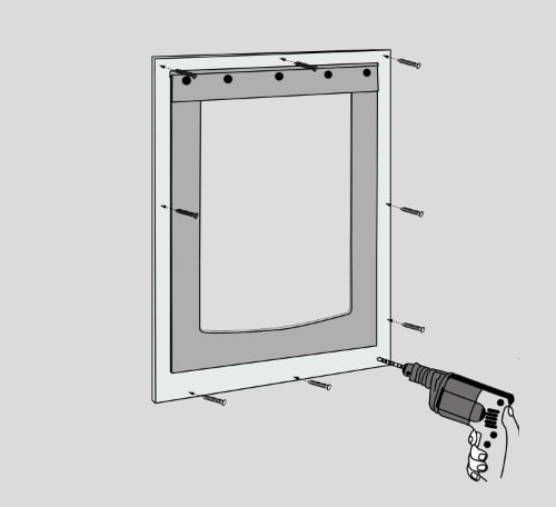 Installing Freedom Pet Pass Basic pet door